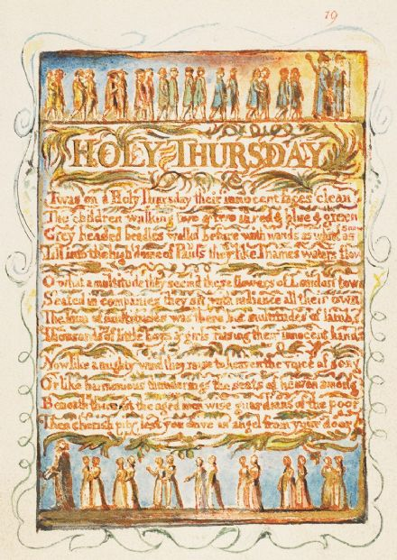 Blake, William: Songs of Innocence and of Experience - Holy Thursday. Fine Art Print/Poster (5227)